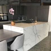 Smartstone countertop, floor, flooring, furniture, granite, interior design, kitchen, product design, table, tile, wall, gray, black