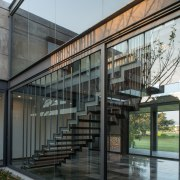 Colima home/Di Frenna Arquitectos architecture, building, condominium, facade, glass, house, gray, black