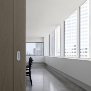 One of the meeting rooms - One of architecture, daylighting, floor, house, interior design, tourist attraction, window, white, gray