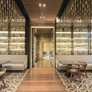 Architect: Central de Proyectos SCP interior design, restaurant, brown, gray