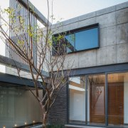 Colima home/Di Frenna Arquitectos architecture, building, daylighting, facade, home, house, property, real estate, residential area, window, white, gray