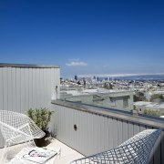 The rooftop access means excellent views apartment, architecture, building, daylighting, home, house, property, real estate, residential area, roof, sky, blue, gray