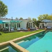 Selena Gomez's new Studio City, California home - cottage, estate, hacienda, home, house, leisure, property, real estate, resort, swimming pool, villa, teal