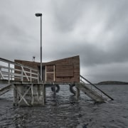 Architect: TYIN tegnestue ArchitectsPhotographer: Pasi Aalto / cloud, dock, pier, sea, sky, water, wood, gray