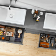 Under the bathroom sink , use AMBIA-LINE and furniture, product design, sink, white