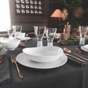 A selection from The Studio of Tableware - brunch, ceramic, dining room, furniture, porcelain, restaurant, table, tablecloth, tableware, black