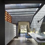 Architect: Austin Maynard ArchitectsPhotography by Peter Bennetts architecture, ceiling, daylighting, interior design, roof, black, gray