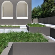 Architect: Tisselli Studio ArchitettiPhotography by Filippo Tisselli architecture, courtyard, facade, garden, grass, house, plant, real estate, wall, yard, gray