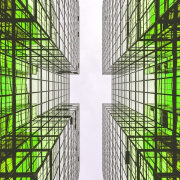 Green buildings are the way of the future architecture, building, design, energy, green, line, metropolis, pattern, structure, symmetry