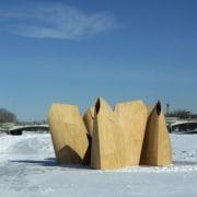 Architect: Patkau ArchitectsPhotography by James Dow freezing, ice, snow, winter, wood, teal, gray