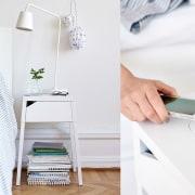 Charging made simple - Charging made simple - clothes hanger, furniture, interior design, product, product design, shelf, shelving, table, white