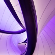 Zaha Hadid – Mathematics: The Winton Gallery – blue, computer wallpaper, graphics, light, line, magenta, pink, product design, purple, violet, purple