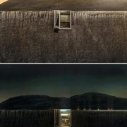 Casa Brutale: Images from LAAV architecture, atmosphere, cloud, dawn, dusk, evening, horizon, house, loch, morning, phenomenon, reflection, reservoir, sky, water, black