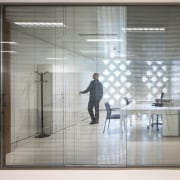 Palace of Justice building | Mecanoo + Ayesa door, floor, flooring, glass, interior design, window, gray, white