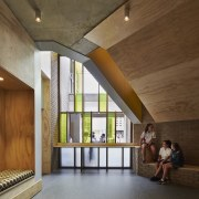 Bunbury Catholic College – Mercy Campus - Bunbury architecture, ceiling, daylighting, floor, house, interior design, lobby, wood, brown, gray