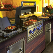 View Our Inbuilt BBQ Range buffet, countertop, cuisine, food, gas stove, home appliance, kitchen, kitchen appliance, kitchen stove, major appliance, brown