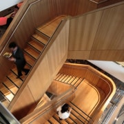 icare – dwp | design worldwide partnership - architecture, floor, keyboard, piano, stairs, wood, brown