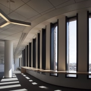 Bruce C. Bolling Municipal Building architecture, ceiling, daylighting, structure, black, gray