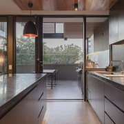 Architect: mcmahon and nerlich architectsPhotography by superk architecture, countertop, house, interior design, kitchen, real estate, window, gray, black