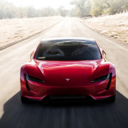 Tesla's new Roadster automotive design, automotive exterior, car, computer wallpaper, concept car, land vehicle, luxury vehicle, mid size car, motor vehicle, performance car, personal luxury car, race car, sports car, supercar, vehicle, white