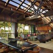 Architect: Olson KundigPhotography by Benjamin Benschneider interior design, living room, real estate, black, brown