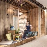 Architect: MetaformaPhotography by Krzysztof Strażyński architecture, floor, furniture, home, house, interior design, wall, wood, brown
