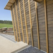 With sustainability and passive design rising high in architecture, daylighting, facade, house, line, real estate, roof, shed, siding, structure, wall, wood, gray, brown