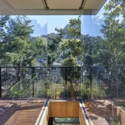 Architect: Schwartz and Architecture: SaAPhotography by Bruce architecture, balcony, deck, handrail, home, house, outdoor structure, plant, property, real estate, roof, tree, gray, brown