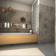 Want a bathroom upgrade? - Want a bathroom floor, flooring, interior design, tile, wall, gray
