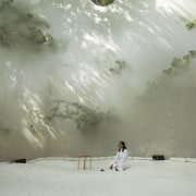 Architect: Plastique FantastiquePhotography by Marco Canevacci, Jelte cloud, freezing, geological phenomenon, phenomenon, sky, snow, sunlight, tree, winter, gray