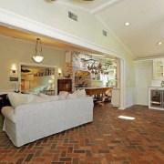 Selena Gomez's new Studio City, California home - ceiling, estate, floor, flooring, home, interior design, living room, property, real estate, room, brown, gray