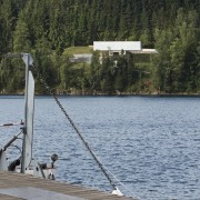 It's tough to figure out exactly what you're boat, boating, boats and boating equipment and supplies, inlet, lake, loch, reservoir, river, sailing, sky, tree, vehicle, water, water transportation, waterway, gray, black