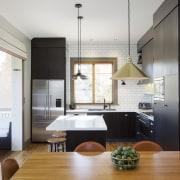 TIDA NZ 2017 – Designer kitchen entrant – architecture, ceiling, countertop, interior design, kitchen, white, black