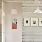 Architect: Kim Irons Photography by Nikole Ramsay furniture, light fixture, product design, shelf, wall, gray