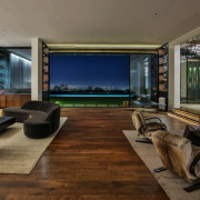 Living room > Lawn > Pool > City floor, flooring, house, interior design, living room, brown