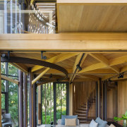 Architect: Malan VorsterPhotography by Adam Letch, Micky architecture, beam, ceiling, daylighting, home, house, interior design, living room, outdoor structure, patio, roof, wood, brown, gray
