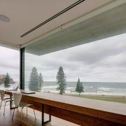 A Horizon Habitats project architecture, ceiling, daylighting, home, house, interior design, real estate, sky, wall, window, wood, gray, white