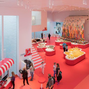 LEGO House – BIG - LEGO House – exhibition, interior design, product, red, pink