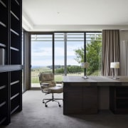 Architect: B.E Architecture architecture, interior design, window, black