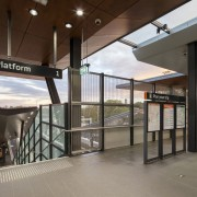 Cheltenham Station – Cox Architecture - Cheltenham Station glass, real estate, gray, brown