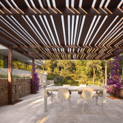 Architect: Ramón Esteve Estudio de Arquitectura ceiling, interior design, outdoor structure, patio, pergola, roof, black, gray