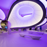 Zaha Hadid – Mathematics: The Winton Gallery – architecture, ceiling, computer wallpaper, light, lighting, product design, purple, violet, purple