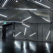 Architect: Ministry of Design architecture, black, black and white, ceiling, daylighting, light, lighting, line, metal, space, structure, black, gray