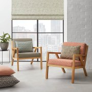 This captivating collection allows you to express a chair, coffee table, couch, curtain, floor, furniture, interior design, living room, loveseat, table, wall, wicker, window, window blind, window covering, window treatment, gray, white