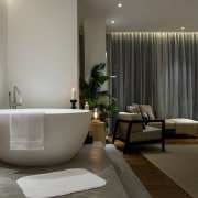 Fancy a relaxing soak in the tub before bathroom, interior design, plumbing fixture, room, gray