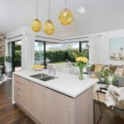 Architect: Allan McIntosh of Buildology Ltd countertop, home, interior design, kitchen, property, real estate, gray