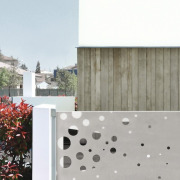 Architect: Tisselli Studio architecture, facade, home, house, property, real estate, residential area, roof, wall, gray, white