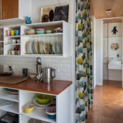 Architect: Parsonson ArchitectsPhotography by Paul McCredie cabinetry, countertop, interior design, kitchen, room, shelf, gray, brown