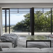 Architect: B.E Architecture daylighting, door, home, house, interior design, living room, property, real estate, window, window covering, window treatment, gray