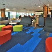 Interior - interior design | leisure centre | interior design, leisure centre, lobby, blue